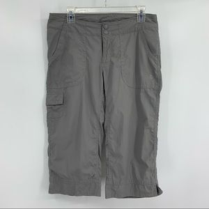The North Face Gray Cropped Utility Pants, Size 8